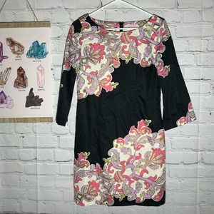 Lily Pulitzer Shauna Tunic Dress Black Gold Pink 2